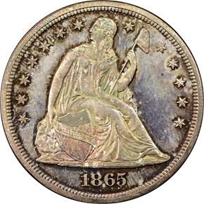 1865 S$1 PF obverse