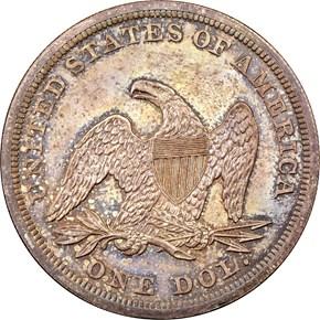 1865 S$1 PF reverse