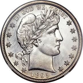 1895 S 50C MS obverse