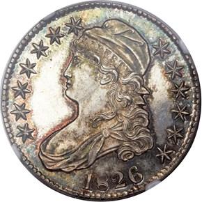 1826 50C PF obverse