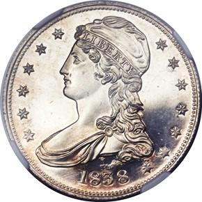 1838 50C PF obverse