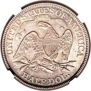 1869 50C MS reverse