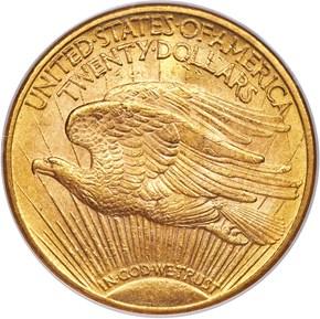 1921 $20 MS reverse