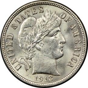 1913 10C MS obverse