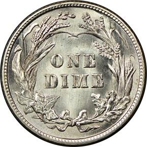 1913 10C MS reverse