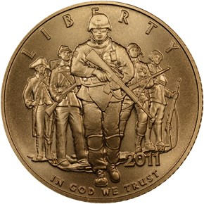 2011 P UNITED STATES ARMY $5 MS obverse