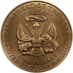 2011 P UNITED STATES ARMY $5 MS reverse