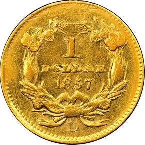 1857 D G$1 MS reverse