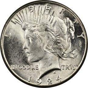 1924 S S$1 MS obverse
