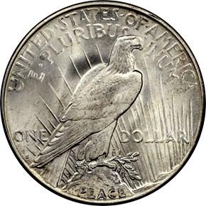 1924 S S$1 MS reverse