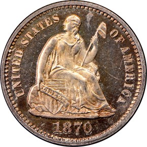 1870 H10C PF obverse