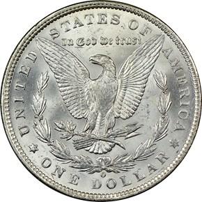 1890 O S$1 MS reverse