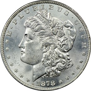 1878 8TF $1 MS obverse