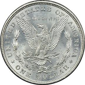 1878 8TF $1 MS reverse