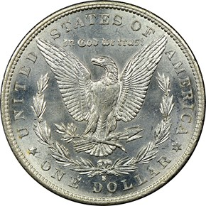 1889 S S$1 MS reverse