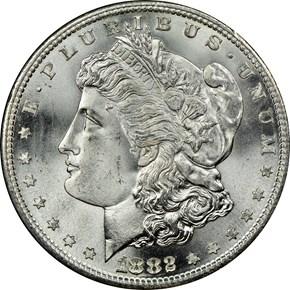 1882 S S$1 MS obverse