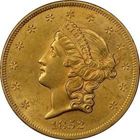 1852 $20 MS obverse