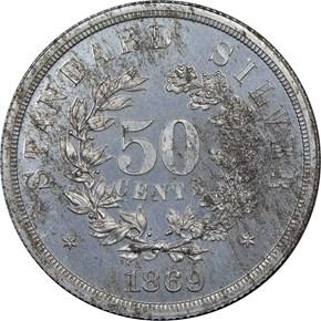 1869 J-752 50C PF reverse