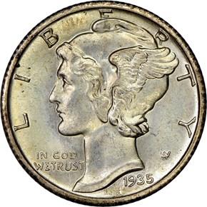 1935 S 10C MS obverse