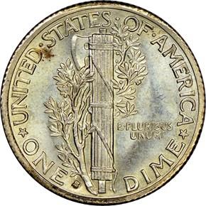 1935 S 10C MS reverse