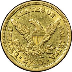 1842 D $2.5 MS reverse