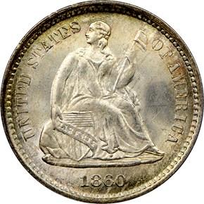 1860 O H10C MS obverse