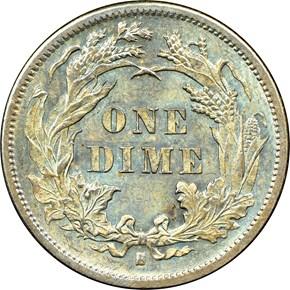 1877 S 10C MS reverse