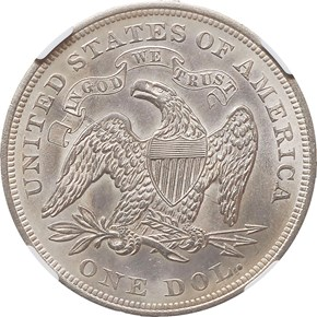 1873 $1 MS reverse