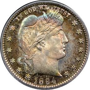 1894 25C PF obverse