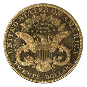 1883 $20 PF reverse