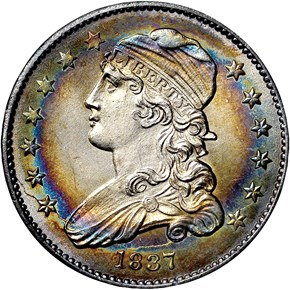 1837 25C MS obverse