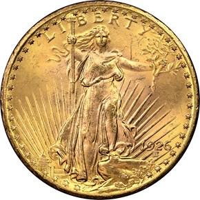 1926 $20 MS obverse