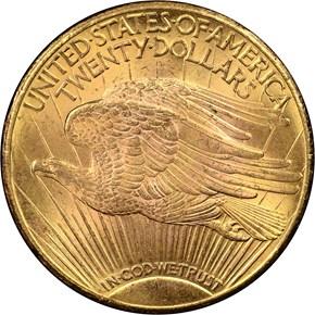 1926 $20 MS reverse