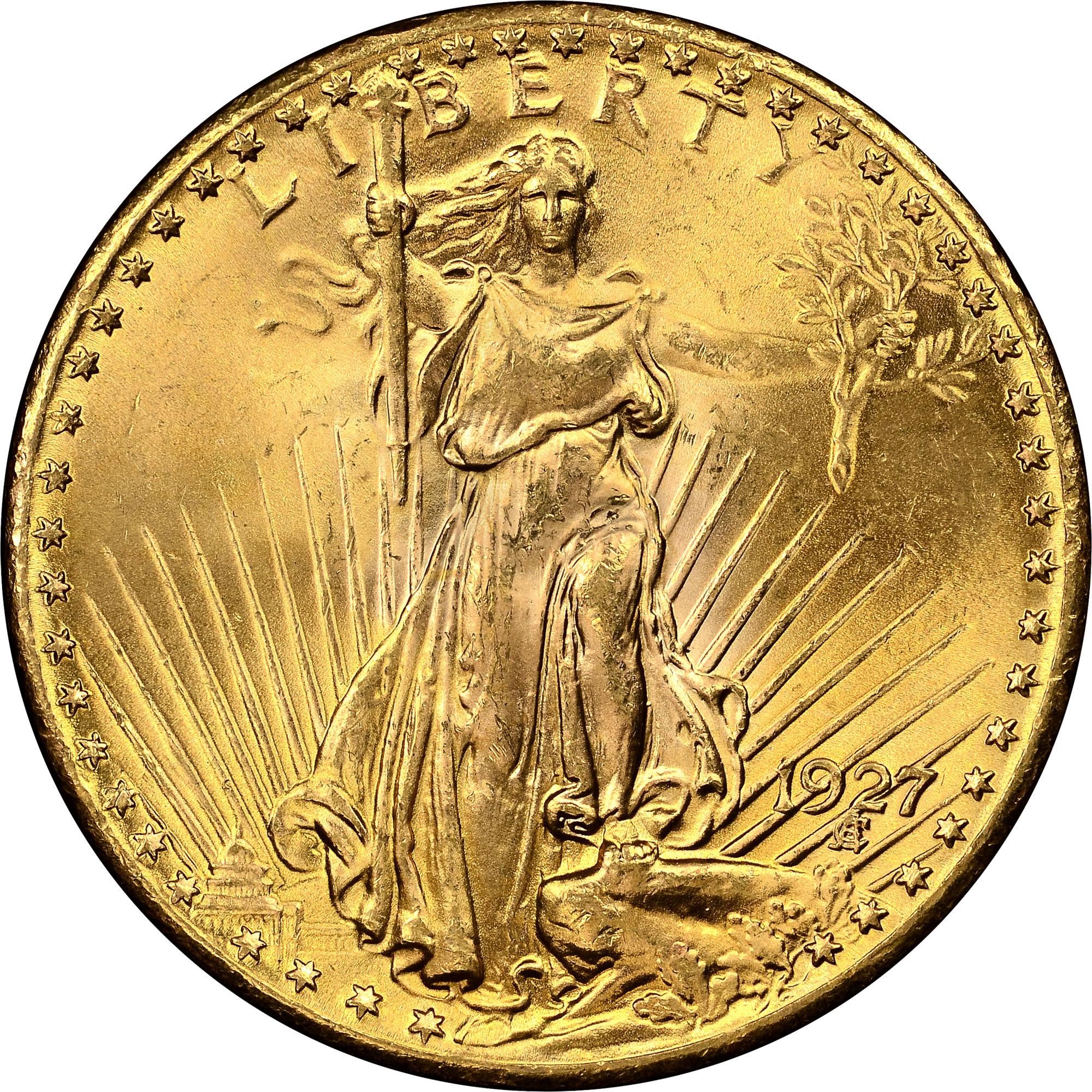 1927 20 Ms Saint Gaudens 20 Ngc