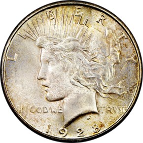 1928 S $1 MS obverse
