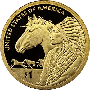 2012 S SACAGAWEA 17th CENTURY TRADE ROUTES $1 PF obverse