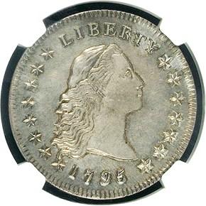 1795 FLOWING HAIR $1 SP obverse