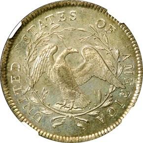 1795 FLOWING HAIR S$1 MS reverse