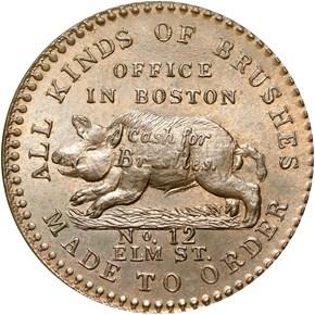 (1835) TAUNTON HT-181B MA MS obverse