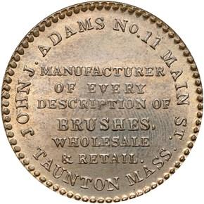 (1835) TAUNTON HT-181B MA MS reverse