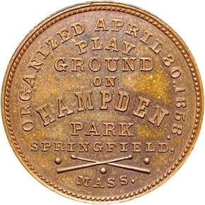 c.1861 BOLEN JAB-1 PIONEER BASEBALL CLUB CU MS reverse