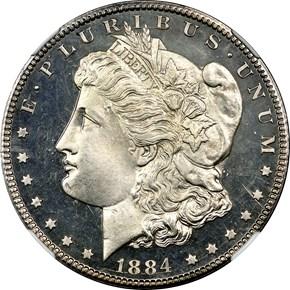 1884 CC $1 PF obverse