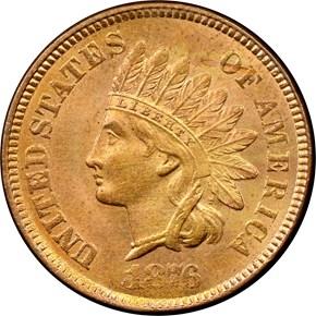 1876 1C MS obverse