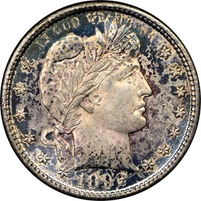 1892 S 25C MS obverse