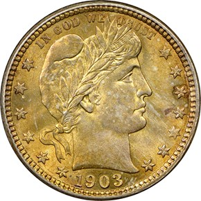 1903 O 25C MS obverse