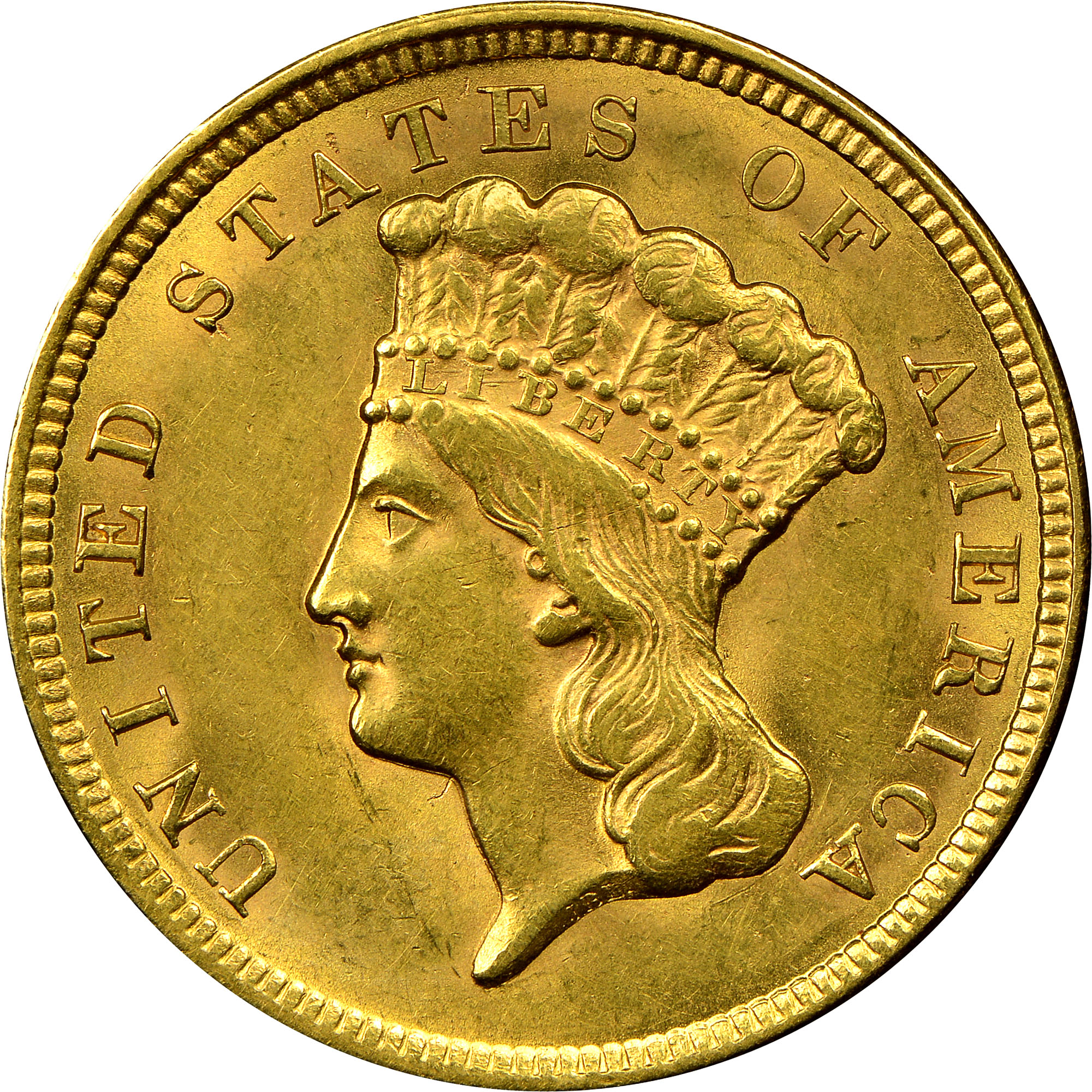 1854 3 Ms Three Dollar Gold Ngc