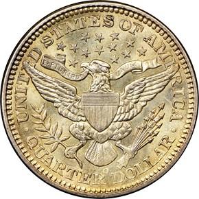 1903 O 25C MS reverse