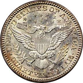 1908 S 25C MS reverse
