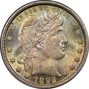 1892 25C MS obverse