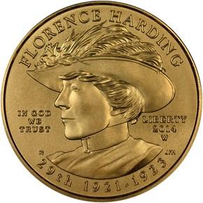 2014 W FLORENCE HARDING G$10 MS obverse